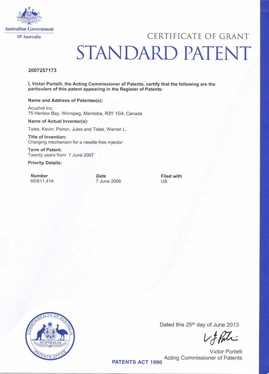 Australia Patent