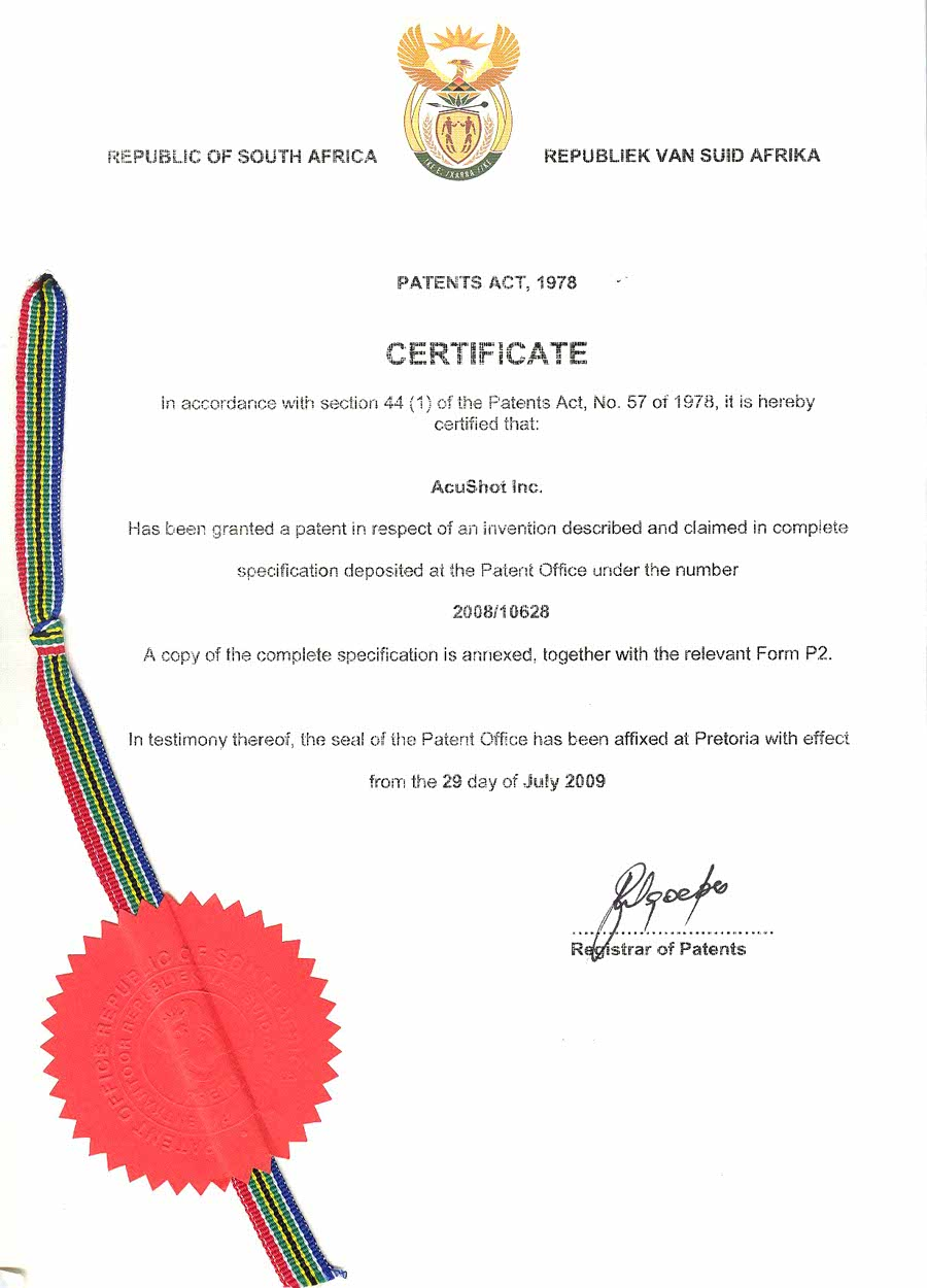 South Africa Patent