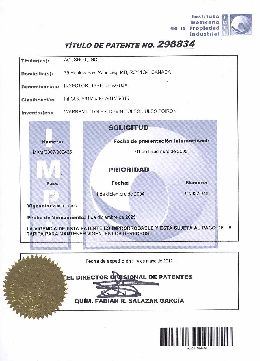 Mexico Patent