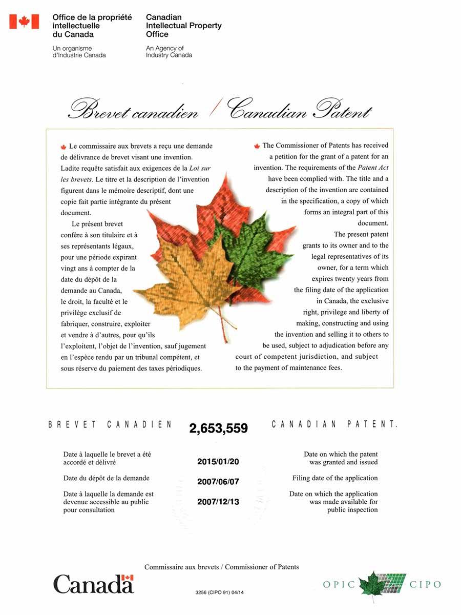 Canada Patent